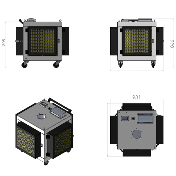 ICAF-Dimensionale Depuratore per fumi Saldatura / Icaf