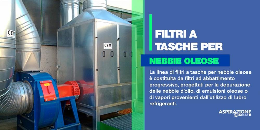 Filtri a tasche per nebbie oleose