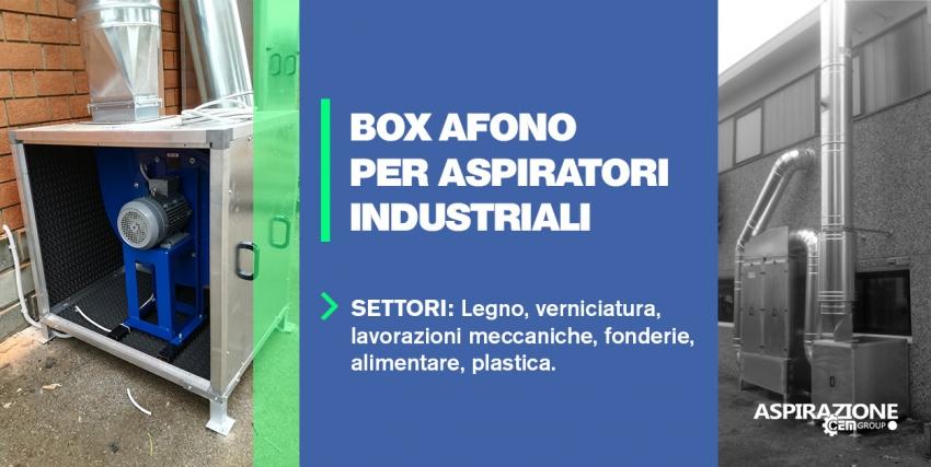 Box afono per aspiratori industriali